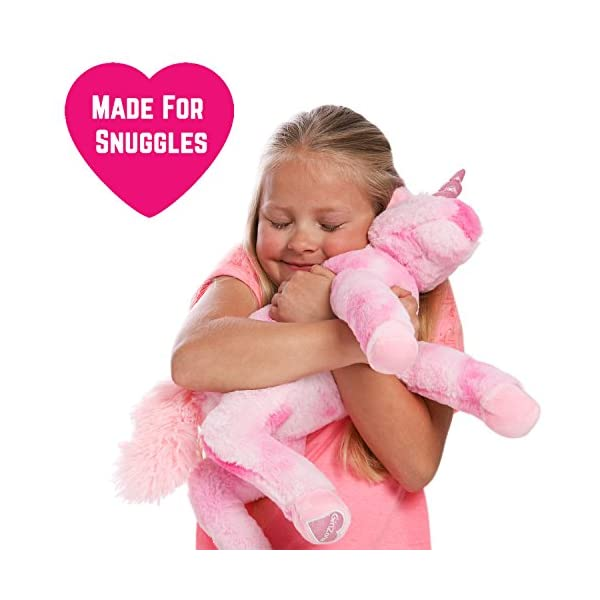 GirlZone Stuffed Pink Plush Unicorn for Girls, Large-18 Inches, Glitter Horn, Great Birthday Gift Idea 10