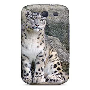 Galaxy S3 Hard Back With Bumper Silicone Gel Tpu Case Cover Animals Lions Tigers Wild Cats Snow Leopard And The Kitten