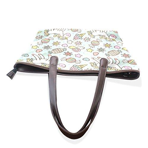 Ladies Top Tote Large Women Bennigiry Patern Handbag Handle Bags Unicorn Shoulder zFanFUxw