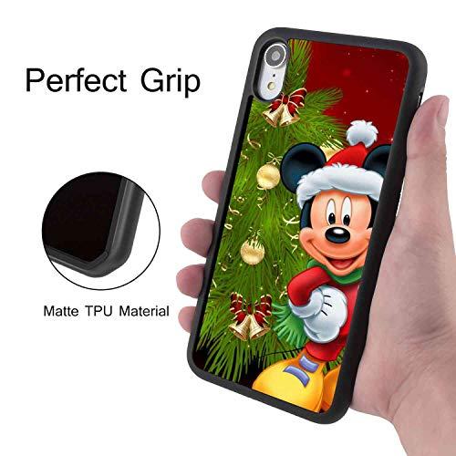 DISNEY COLLECTION iPhone Xr (2018) (6.1-Inch) Phone Case Cartoon Christmas Decoration Merry Mickey Minnie Tree Disney