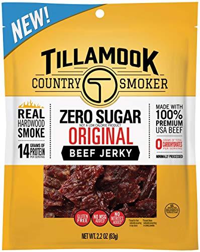 Smoked Beef (Tillamook Country Smoker Zero Sugar Original Beef Jerky, 2.2-oz.)