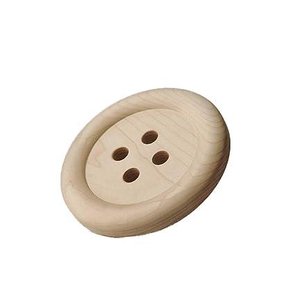 Perchero Barra Pared Gancho de botón Material de Madera ...