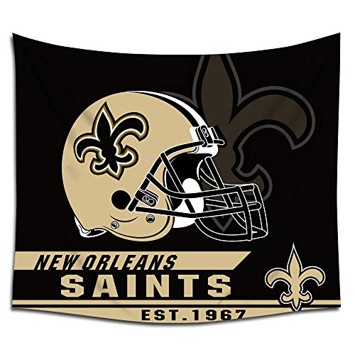 Jacoci New Orleans Saints Wall Tapestry Hanging Cool Design for Bedroom Living Room Dorm Handicrafts Curtain Home Decor Size 50x60 Inches