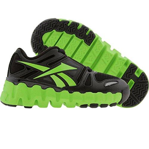 Reebok Mini ZigDynamic Running Shoe ,Black/Sushi Green/Silve