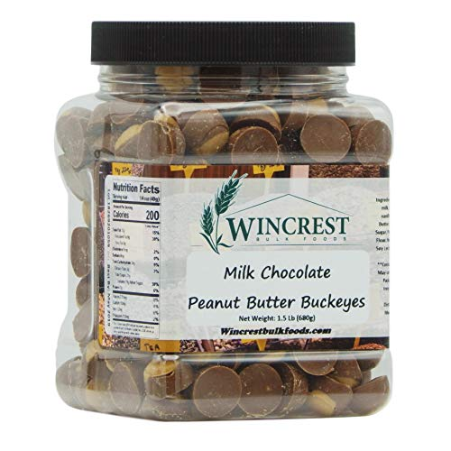 Mini Milk Chocolate Peanut Butter Buckeyes - 1.5 Lb Tub
