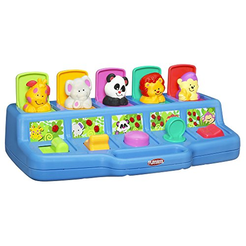 - Playskool Play Favorites Busy Poppin' Pals, Pop Up Activity Toy, Ages 9 Months and Up (Amazon Exclusive) (Renewed)