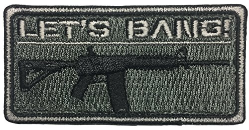 Used, Let's Bang - AR15 / M4 - Embroidered Morale Patch for sale  Delivered anywhere in USA