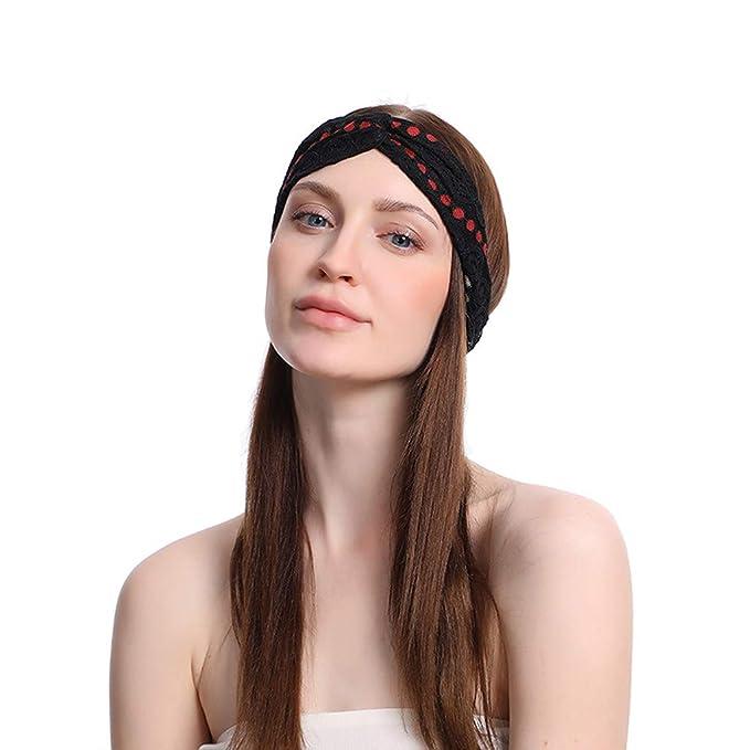 MAWOLY Cinta de pelo para mujer, nudos, elástica, para el ...