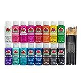 Apple Barrel PROMOABIB Acrylic Paint and Brush Set, 2-16 oz, Multicolor