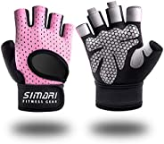 SIMARI Workout Gloves Men Women Weight Lifting Gym Gloves with Wrist Wrap Support, Full Palm Protection, for W