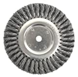 Weiler 8138 Standard Twist Knot Wire Wheel, 8'' Diameter x 5/8'' Width, 3/4'', 0.014'' Steel, 6000 rpm