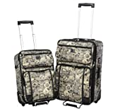 Sydney Love New Travel Print 2 Piece Luggage Set 90585 Weekender,Multi,One Size