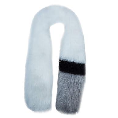 Siilrut Imitation fourrure de renard couleur correspondant foulard dames  mode hiver écharpe en fourrure artificielle col f67ae0c35d2