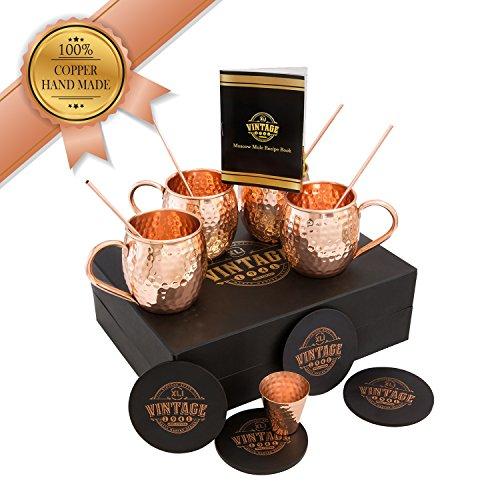 Vintage Design 100% Copper Mug for Moscow Mule