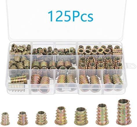 Tuercas de Rosca Hexagonal, CHIFOOM, 125pcs, Aleación de Zinc ...