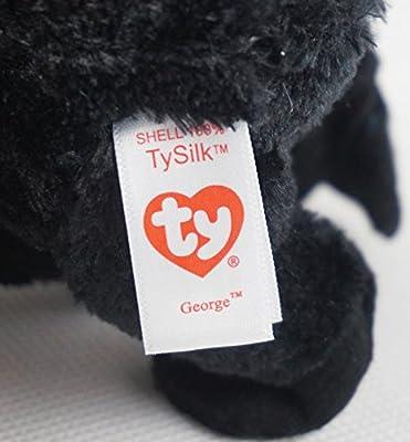 KonThai 6 TY Beanie Boos George Gorilla Glitter Eyes With Hang Tag Plush Stuffed Toys Thailand
