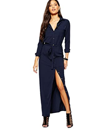 Chemise Longues Sexy Mode 2017 Robe Yaancun Femme Longue Tunique Manches Casual 54ARcSq3jL