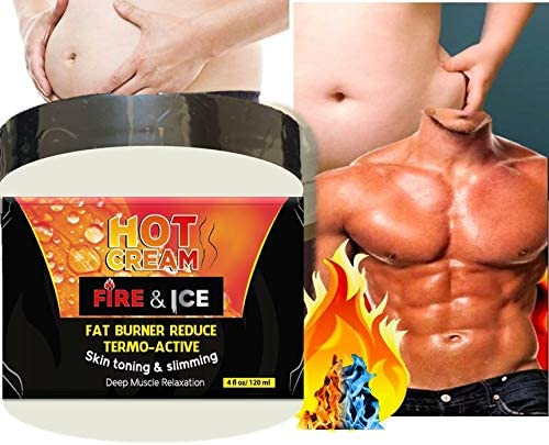 Hot Cream 4 oz Excessive Body Fat Burner Reducer Cellulite Cream-Muscle Rub-Slimming Cream-Pain Relief-Body Wraps-Belly Fat-Skin Firming Weight Loss