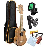 Martin Smith Soprano Ukulele Starter Kit with Aquila Strings – Includes Online Lessons, Tuner, Bag, Strap & Spare Strings
