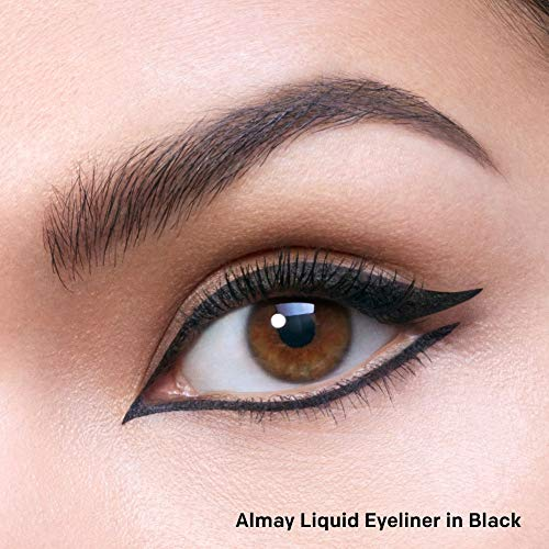Almay Liquid Eyeliner, Waterproof and Longwearing, Hypoallergenic, Cruelty Free, Fragrance Free, Ophthalmologist Tested, 221 Black, 0.08 oz