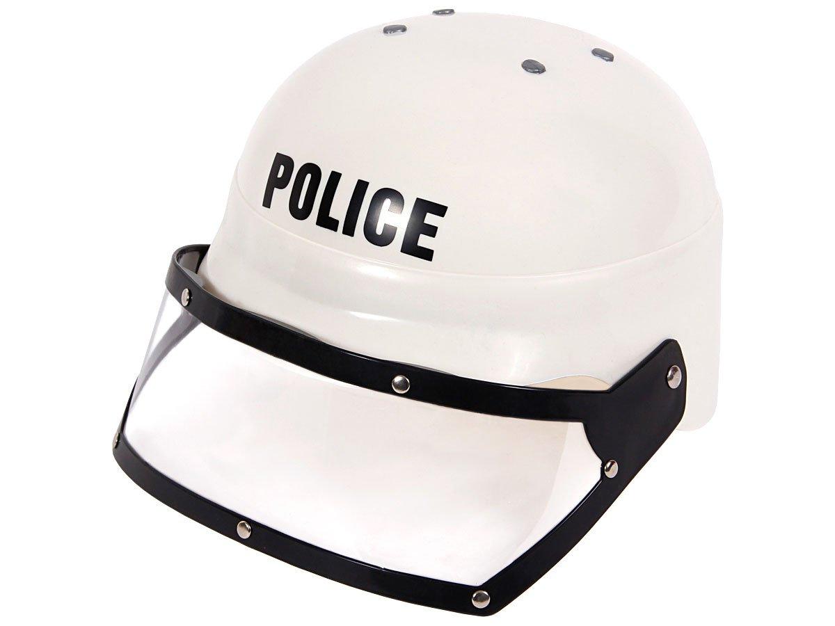 Alsino Polizeihelm Feuerwehrhelm Baustellenhelm Kinder Kindergeburtstag , wählen:HE-02 Polizei Helm