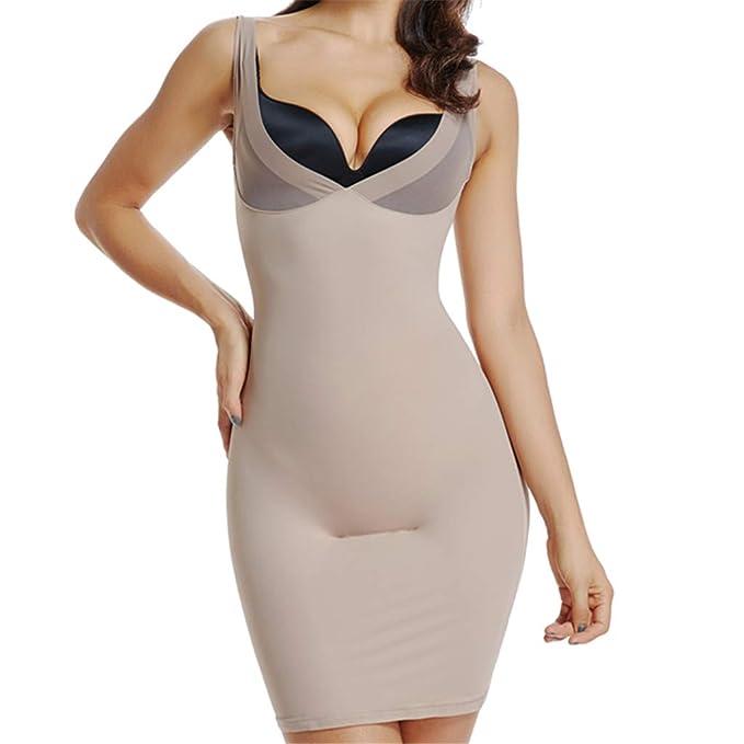 ccae4068f Full Slips for Women Under Dresses Tummy Control Shapewear Slips Seamless  Slimming Body Shaper Slip (