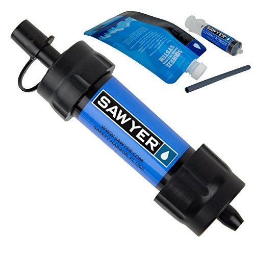 Sawyer Products SP128 Mini Water Filtration System, Single, Blue (Bottle Plunger)