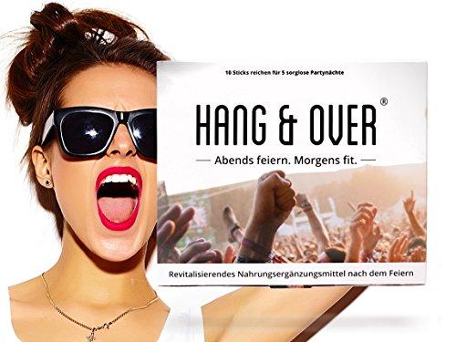 Hang & Over ® - 10 Anti-Hangover Sticks | Kater-Mittel mit Kaktusfeige & Roter Ginseng & Elektrolyte