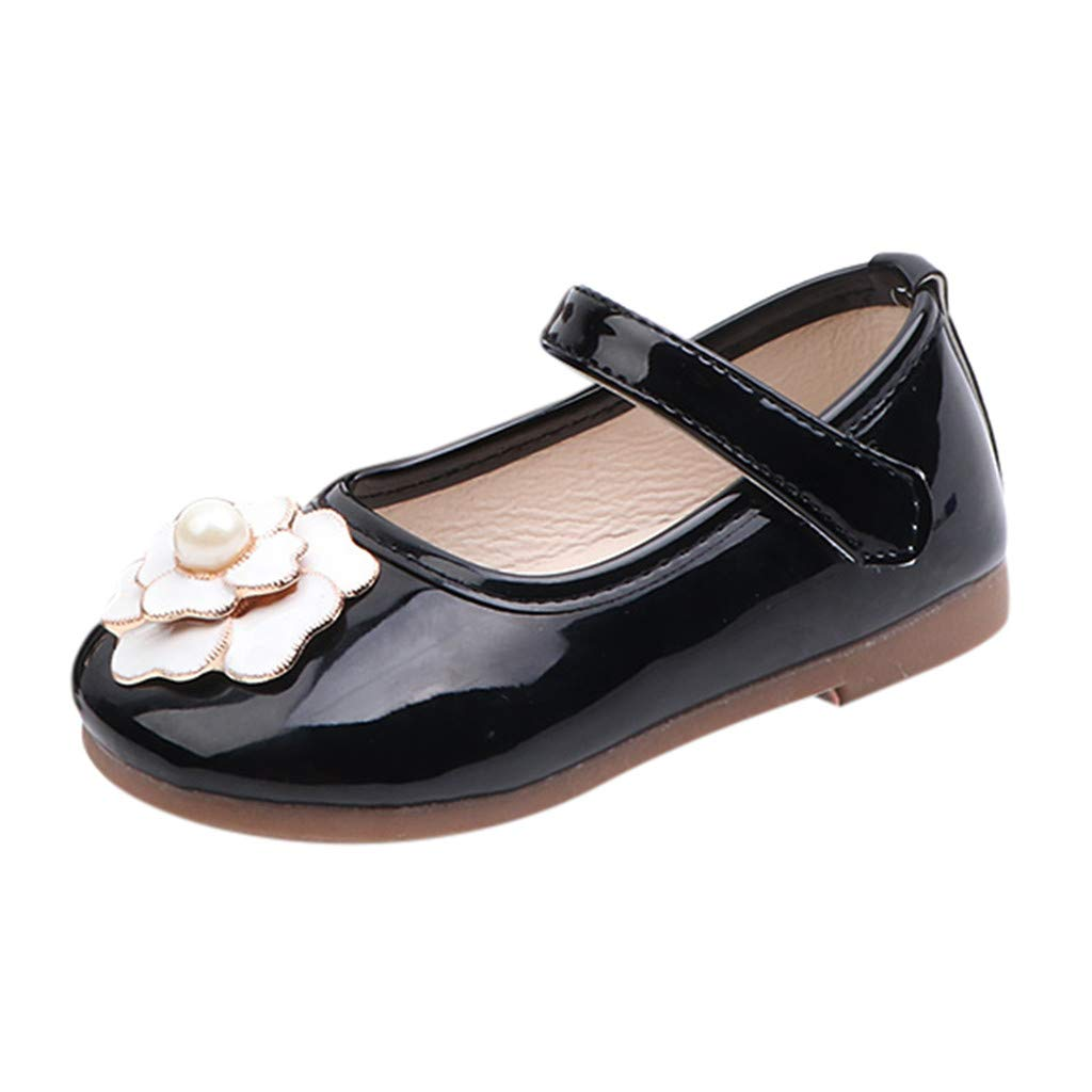 LIKESIDE Princess Slipper Flat Soft for Baby Black