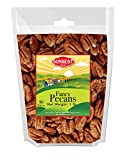 SUNBEST Fancy Georgia Raw Shelled Pecans, Pecan Halves, JUMBO, Unsalted, No Shell in Resealable Bag … (1 Lb)