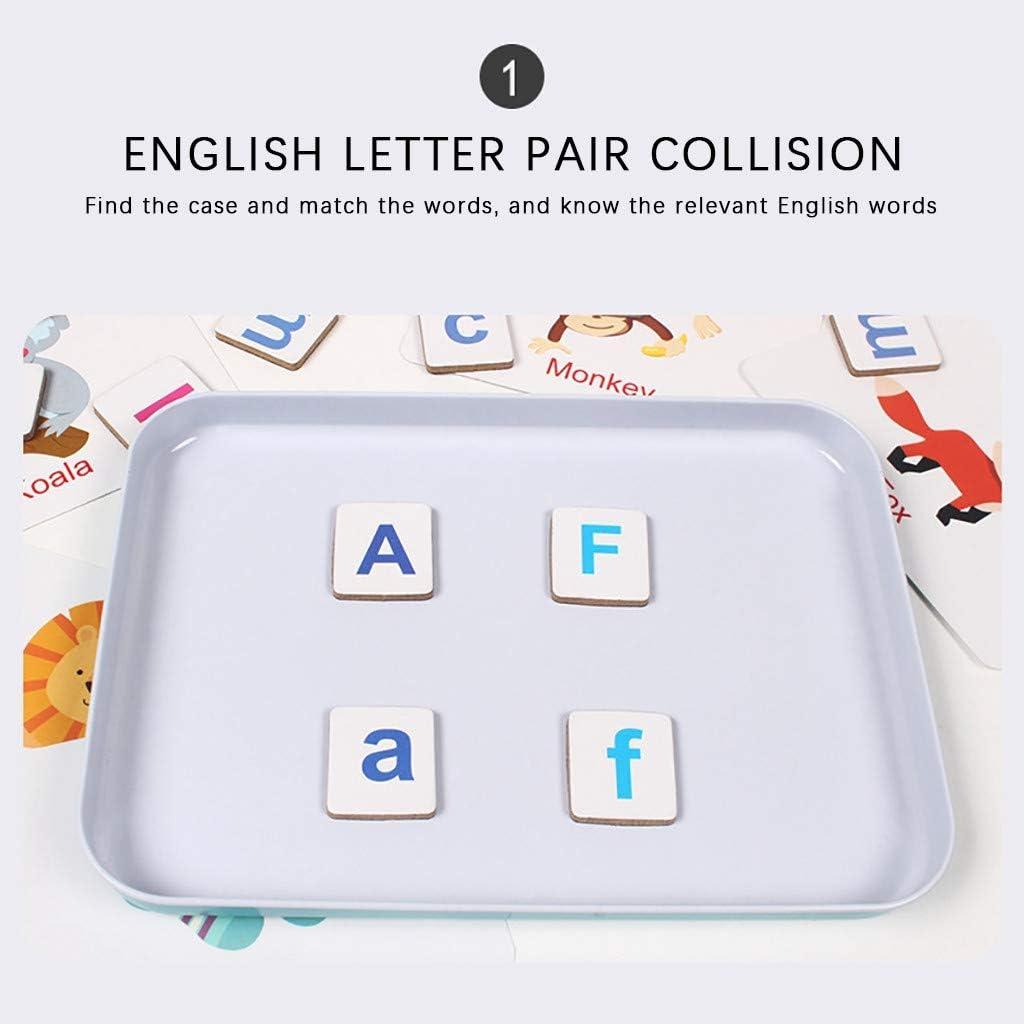 Winkey Vorschule Rechtschreibung Lernen Spielzeug Matching Alphabet Spiel Entwickeln Sie Alphabet W/örter Tin Box Rechtschreibung W/örter