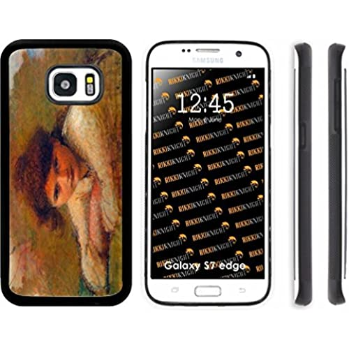 Rikki Knight Jan Toorop Art Three Women Design Samsung Galaxy S7 Edge Case Cover (Black Rubber with front Bumper Sales