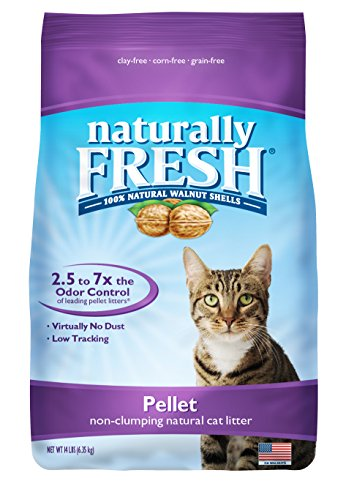 Naturally Fresh Walnut-Based Pellet Non-Clumping Cat Litter, 14 -