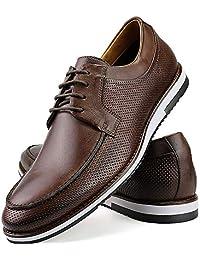 Sapato Casual Oxford Masculino Couro Cafe