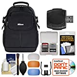 Nikon 17006 Compact DSLR Camera Backpack Case with Diffuser Filter Set + Kit for D3300, D3400, D5300, D5500, D7100, D7200, D610, D750, D810