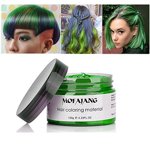 MOFAJANG Hair Coloring Dye Wax, Green Instant Hair