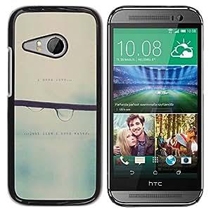 PC/Aluminum Funda Carcasa protectora para HTC ONE MINI 2 / M8 MINI Love Blurry Sweet Rain Focus / JUSTGO PHONE PROTECTOR