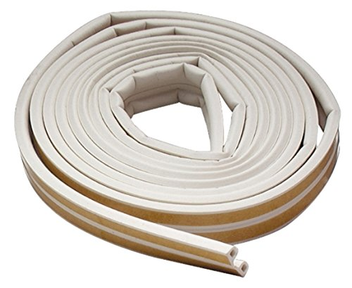 M-D Building Products 2576 M-D 0 All Climate P-Profile Subzero Weather-Strip, 17 Ft L X 3/8 in W 7/32 in T, Epdm Rubber White