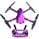 PeleusTech® Fluorescence Stickers Full Set for DJI Mavic Pro Drone Skins Decals Remote Controller Waterproof Stickers - (Fluorescence purple)
