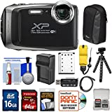 Fujifilm FinePix XP130 Shock & Waterproof Wi-Fi Digital Camera (Silver) with 64GB Card + Battery +Charger + Cases + Tripod + Float Strap + Kit