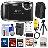 Fujifilm FinePix XP130 Shock & Waterproof Wi-Fi Digital Camera (Silver) with 64GB Card + Battery +Charger + Cases + Tripod + Float Strap + Kit For Sale