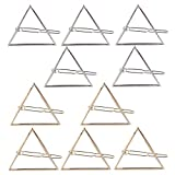 triangle Rosenice Hollow Triangle Geometric Metal Hairpin Hair Clip Clamps Barrettes Bobby Pin Headwear