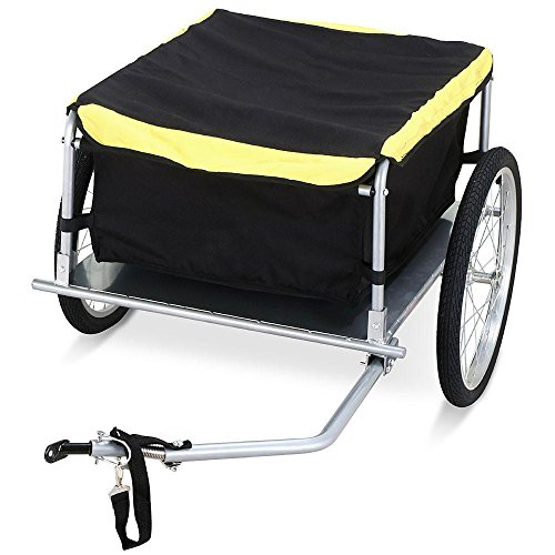 Yaheetech Garden Bike Bicycle Cargo Luggage Trailer-Yellow/Black by Yaheetech (Image #1)