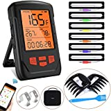 Best Bluetooth Meat Thermometers - Bluetooth Meat Thermometer, Wireless Digital BBQ Cooking Thermometer Review