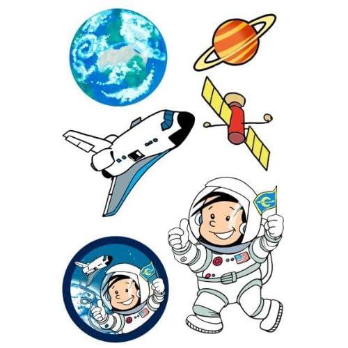 Astronaute Flo * tatouages de Lutz Mauder//ps42138//enfants Enfants Sticker Tatoo Tatto enfants pour anniversaire d'enfant Espace vaisseau spatial All Space