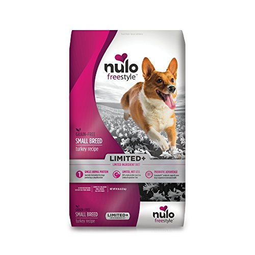 Nulo Small Breed Freestyle Limited Plus Grain Free Dry Dog Food: All Natural Limited Ingredient Diet for Digestive & Immune Health – Allergy Sensitive Non GMO (Turkey Recipe – 10 lb Bag) For Sale