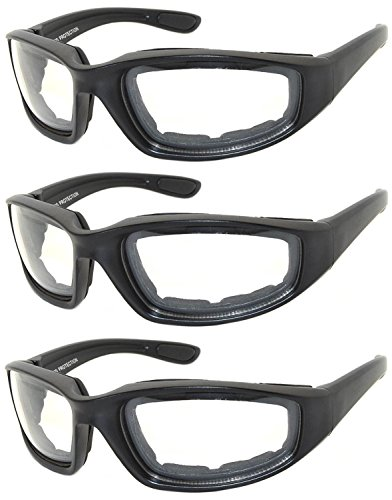 OWL - Padded Riding Glasses - Clear Lens (3 Pack)