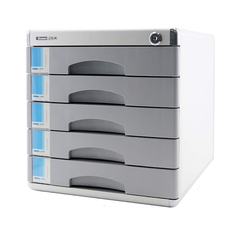 ファイルキャビネットアルミニウムデスクトップストレージキャビネットファイルボックス3/5/7フロアロック引き出しタイプグレー (サイズ さいず : 30.5cm) B07MR4ZTB4  30.5cm