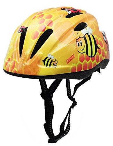 BeBeFun Pink Girl Toddler and Kids Multi-Sport Bike super lightweight Helmet (Bee)