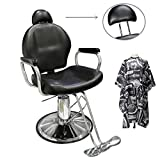 Ediors Hydraulic Barber Chair Styling Salon Spa Beauty Barbershop Equipment Black
